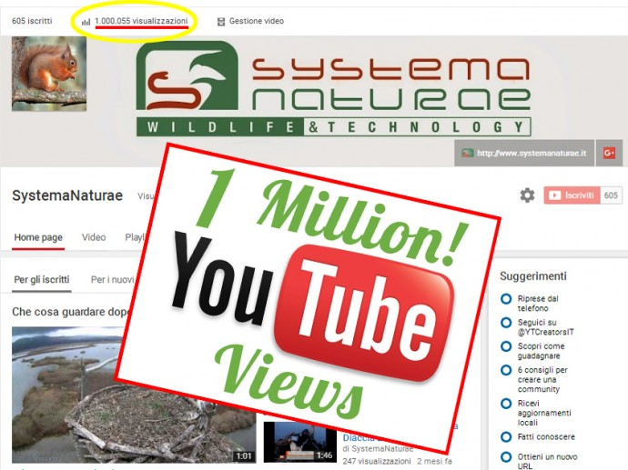 1.000.000 YOUTUBE views!!!